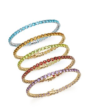 Bloomingdale's - Gemstone Tennis Bracelet in 14K Gold - 100% Exclusive