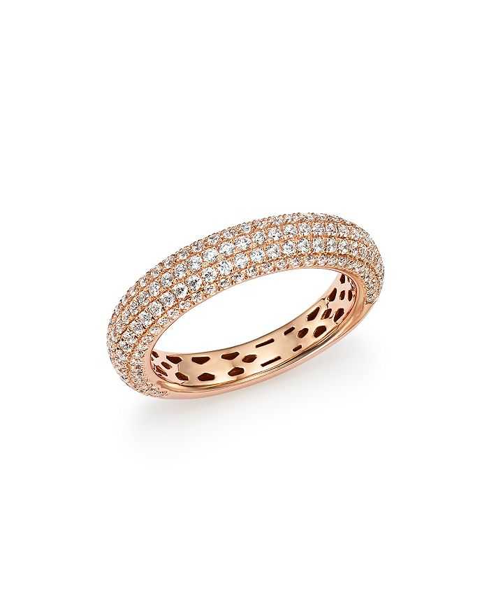 Bloomingdale's - Diamond Micro Pavé Band in 14K Rose Gold, 1.0 ct. t.w., 100% Exclusive