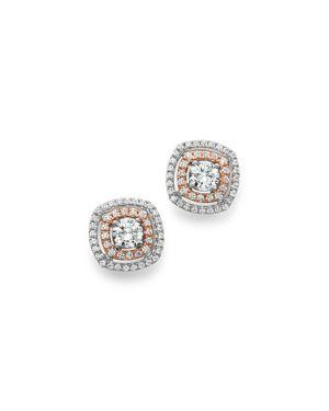 Bloomingdale's Diamond Stud Earrings in 14K Rose & White Gold, 0.75 ct. t.w. - 100% Exclusive