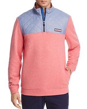 Vineyard Vines Quilted Shoulder Quarter-Zip Pullover