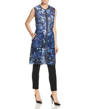 Elie Tahari Chloe Floral Lace Vest