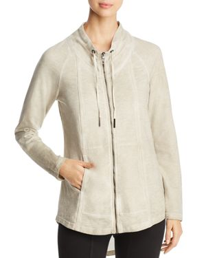 ALINE KNIT ZIP-FRONT JACKET