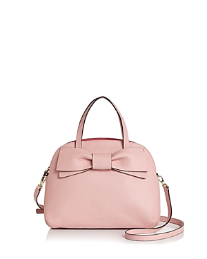 Kate Spade  KATE SPADE NEW YORK LOTTIE BOW LEATHER SATCHEL