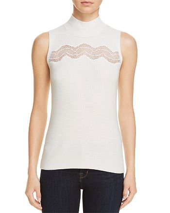 T Tahari - Yolana Sleeveless Mock-Neck Sweater