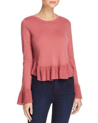 $Joie Iona Wool-Silk Ruffled Sweater - Bloomingdale's