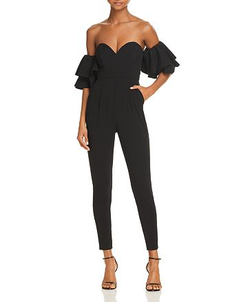 Fame and Partners - The Garland Off-the-Shoulder Jumpsuit - 100% Exclusive