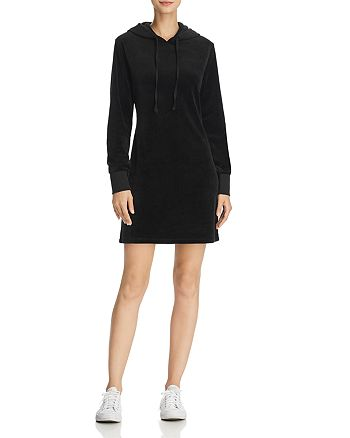 Juicy Couture Black Label - Velour Hooded Sweatshirt Dress