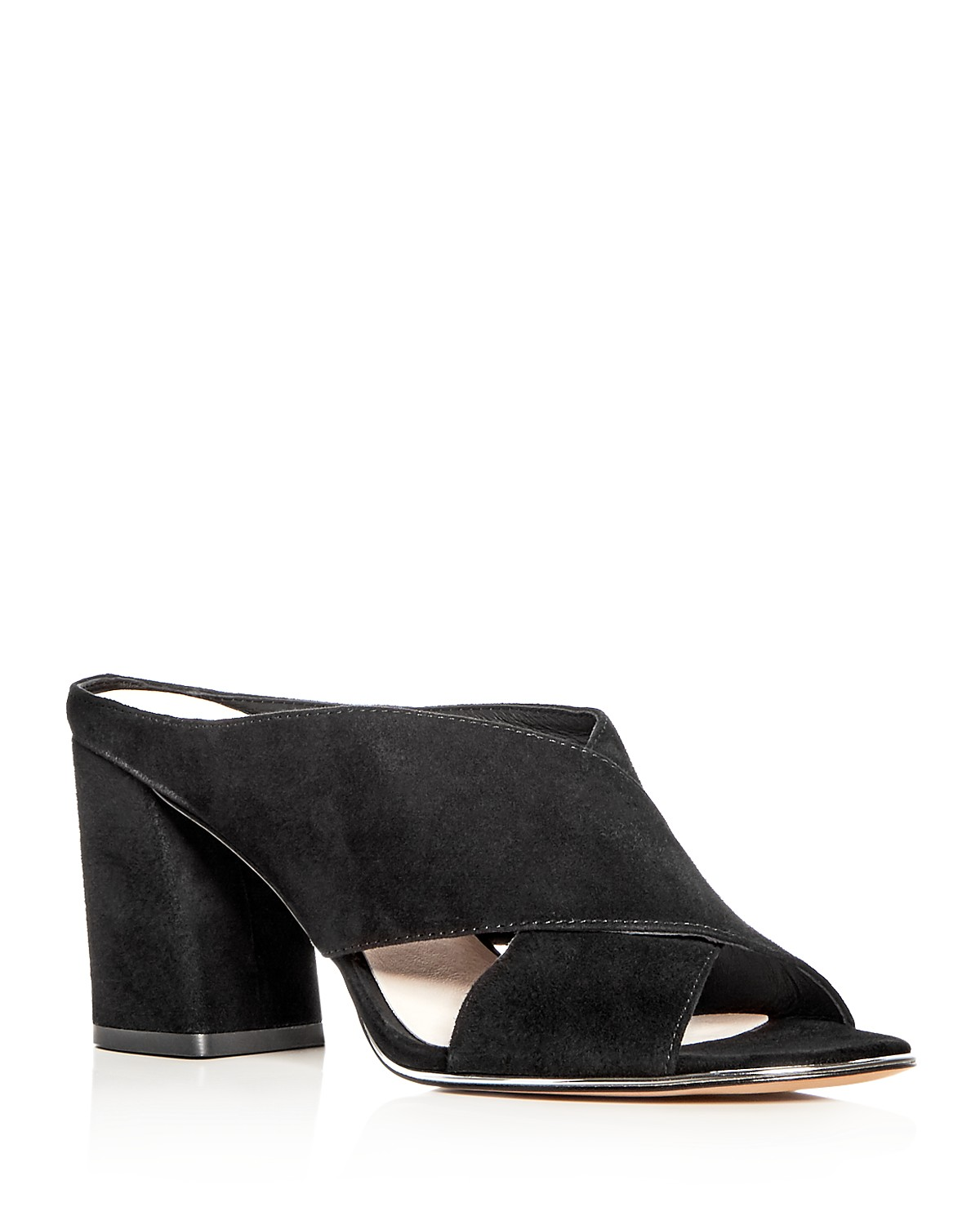 Kenneth Cole Women's Lyra Suede Block Heel Slide Mules