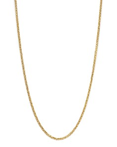 """Bloomingdale's Men's Solid Wheat Chain Necklace in 14K Yellow Gold, 24"""" - 100% Exclusive _0"""