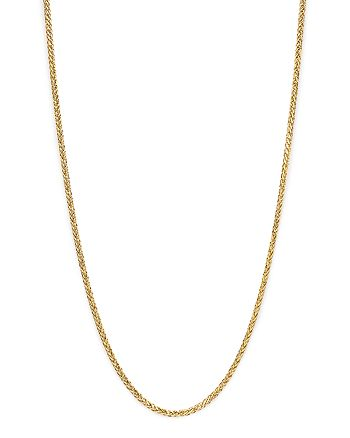 """Bloomingdale's - Men's Solid Wheat Chain Necklace in 14K Yellow Gold, 24"""" - 100% Exclusive"""