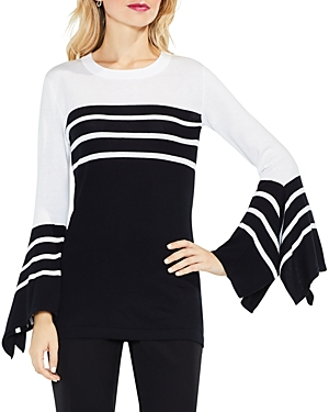 Vince Camuto Handkerchief Sleeve Stripe Sweater