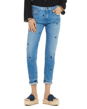 Scotch & Soda Petit Ami Embroidered Straight-Leg Jeans in Indigo 2807847