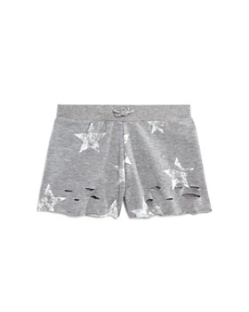 Flowers by Zoe - Girls' Distressed Star-Print Shorts - Little Kid