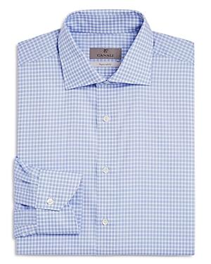 Canali Impeccabile Grid Regular Fit Dress Shirt