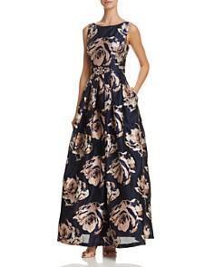 Eliza J - Embellished Floral Ball Gown