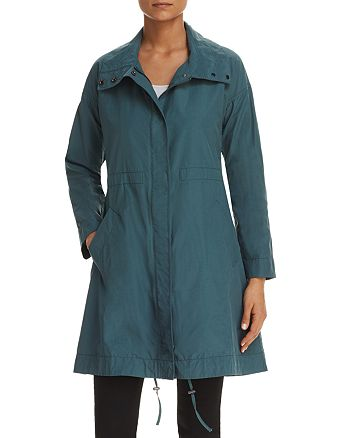 Eileen Fisher - Stand Collar Long Jacket