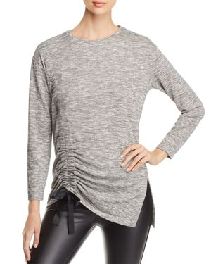 Alison Andrews Ruched Drawstring Top