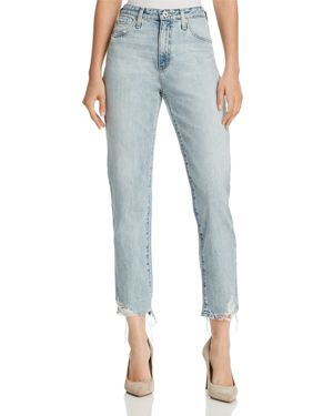 Ag Phoebe Vintage High Waist Tapered Jeans in Bering Wave 2812036