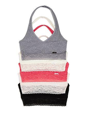d61b1ccc17 Calvin Klein - Bare Lace Halter Bralettes