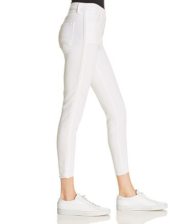 J Brand - Alana High Rise Crop Skinny Jeans in Braided Blanc - 100% Exclusive
