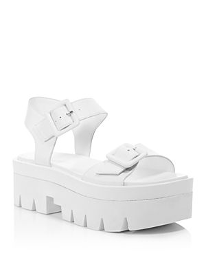 Kendall and Kylie Women's Wave Leather Platform Ankle Strap Sandals - 100% Exclusive