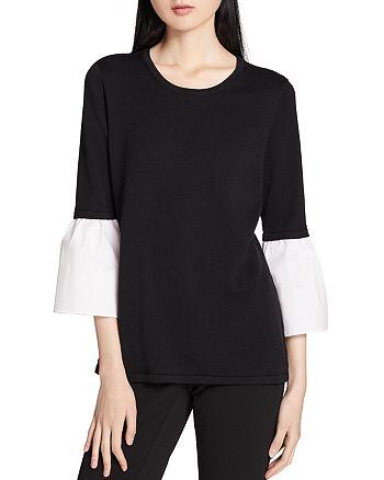 Calvin Klein - Poplin-Bell-Sleeve Top