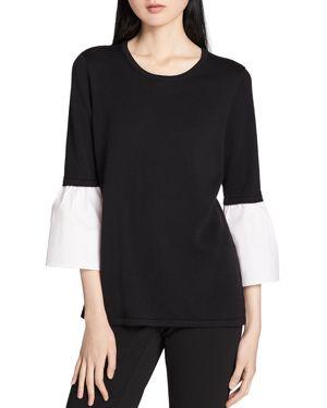 Calvin Klein Poplin-Bell-Sleeve Top