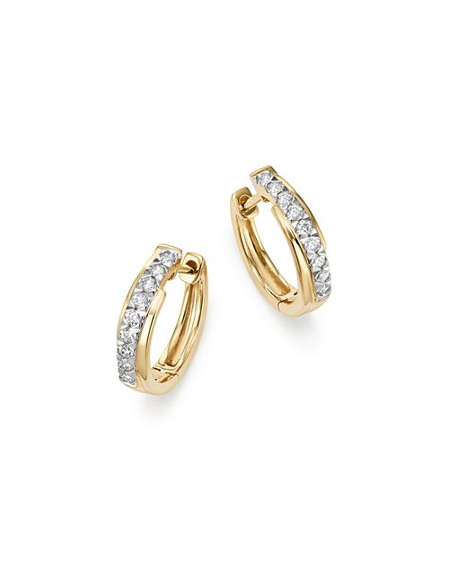 Bloomingdale's - Diamond Small Hoop Earrings in 14K Yellow Gold, 0.25 ct. t.w. - 100% Exclusive