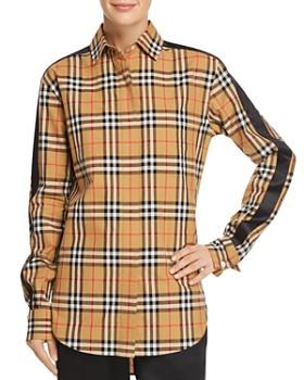 Burberry - Saoirse Side-Stripe Check Print Shirt ... 29a0a6c92