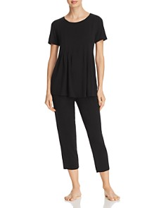 Donna Karan - Basics Short-Sleeve Top & Capri Pants