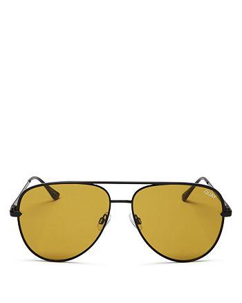 Quay - Women's #QUAYXDESI Sahara Aviator Sunglasses, 56mm