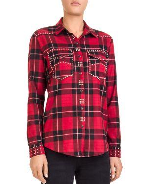 The Kooples Studded Plaid Shirt thumbnail