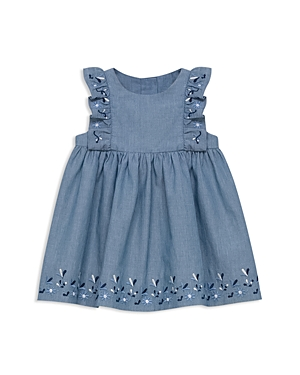 Tartine et Chocolat Girls' Embroidered Chambray Dress - Baby