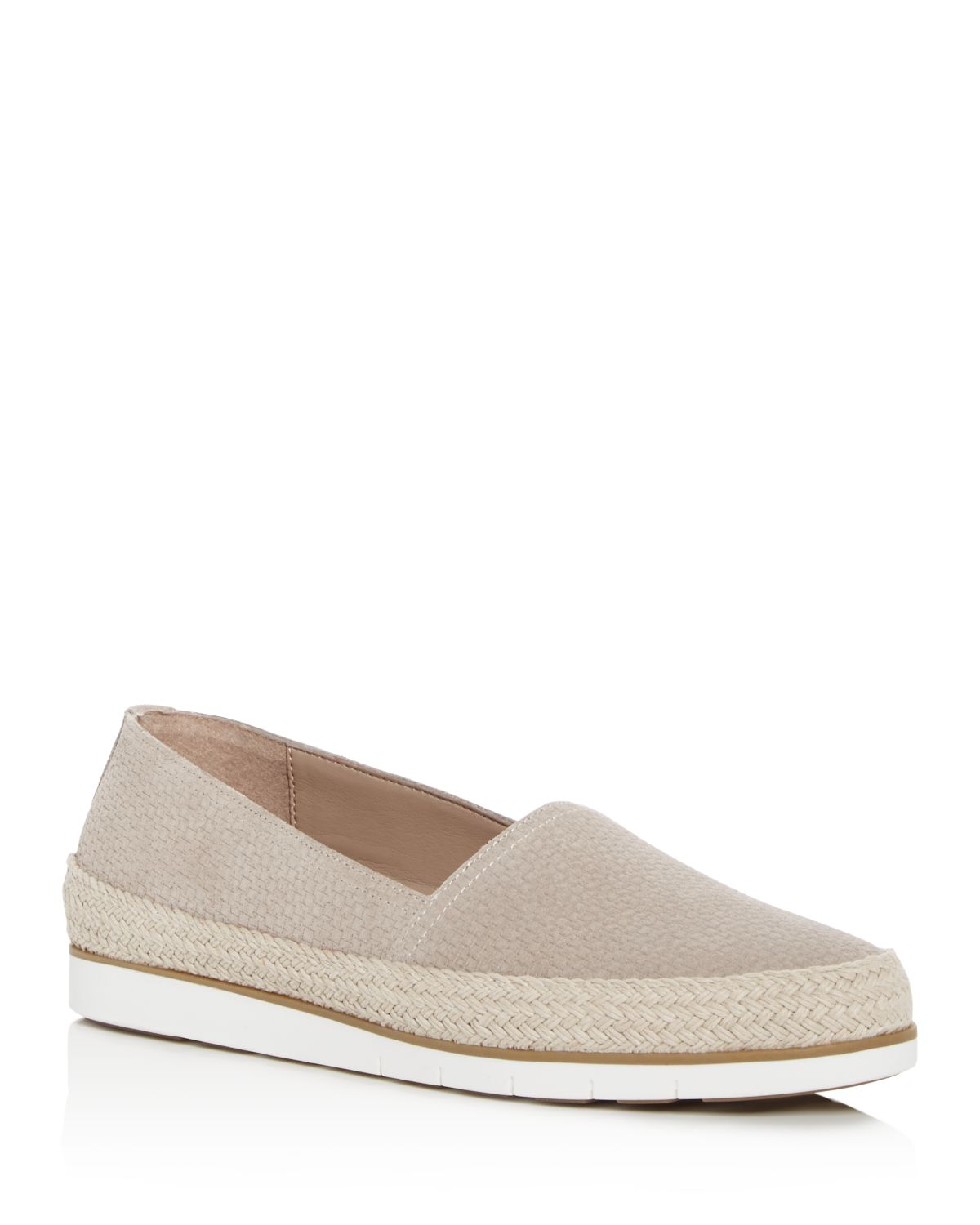 Palm Espadrille Embossed Suede Loafers