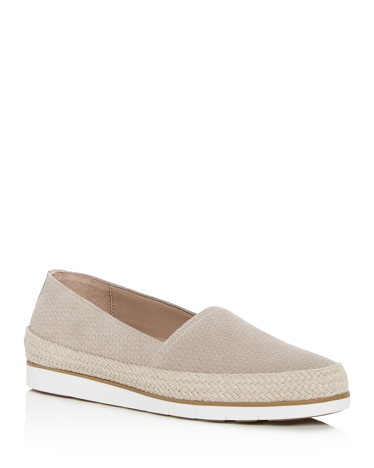 Palm Espadrille Embossed Suede Loafers TrkLMi