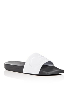 faf7c55a3720 Salvatore Ferragamo - Men s Groove 2 Original Double Gancini Slide Sandals  ...