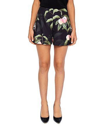 Ted Baker - Catrena Peach Blossom Side Bow Shorts