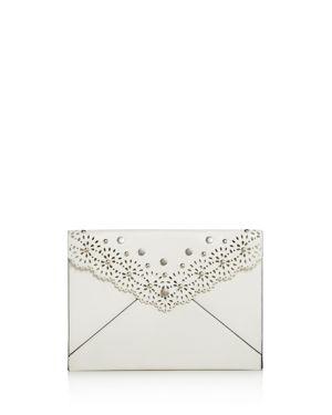Rebecca Minkoff Floral Cut Out Leo Leather Clutch 2822798