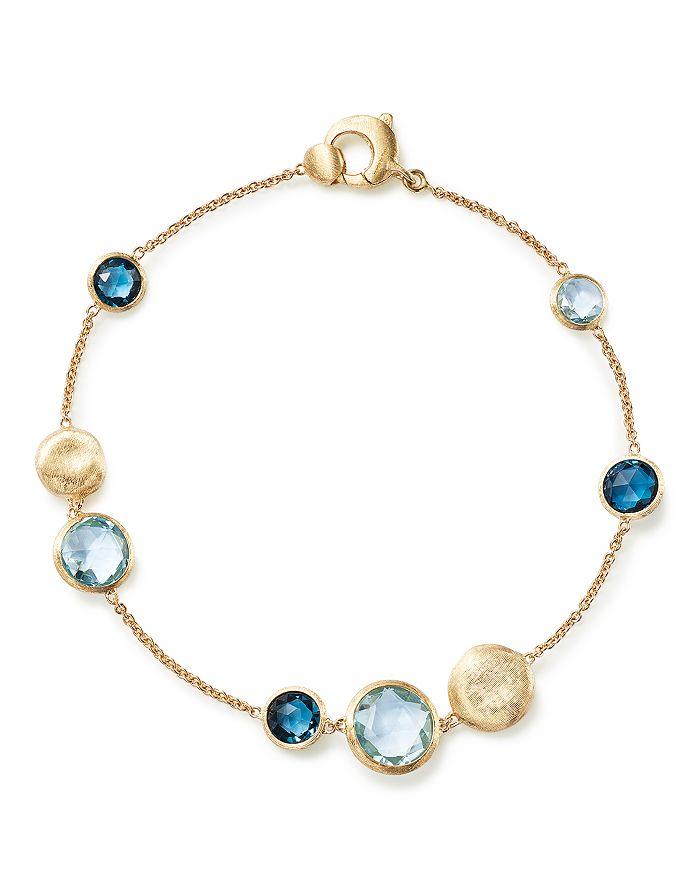 Marco Bicego - 18K Yellow Gold Jaipur Mixed Blue Topaz Bracelet - 100% Exclusive