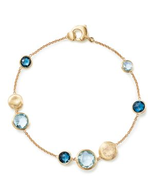 MARCO BICEGO 18K Yellow Gold Jaipur Mixed Blue Topaz Bracelet - 100% Exclusive in Yellow Gold/ Swiss Blue Topaz