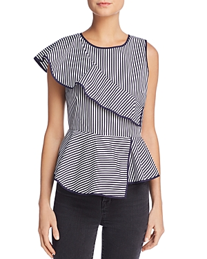 Parker Carly Asymmetric Stripe Top