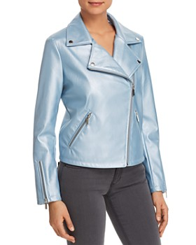 Bagatelle - Metallic Faux-Leather Moto Jacket