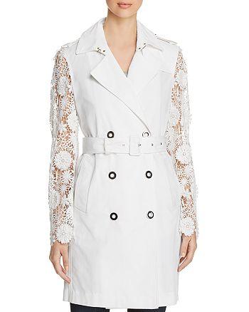 Elie Tahari - Natania Lace-Sleeve Trench Coat - 100% Exclusive