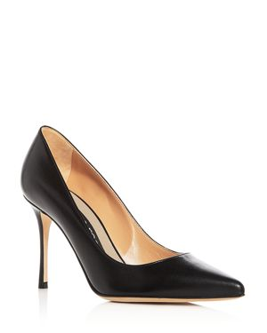 WOMEN'S GODIVA LEATHER POINTED TOE PUMPS