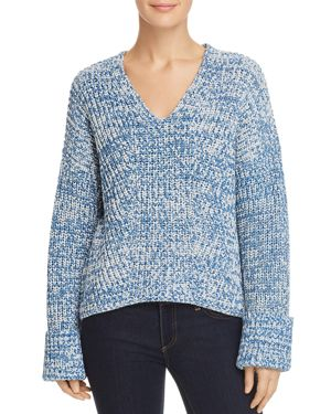 Kenneth Cole V-Neck Marled Sweater