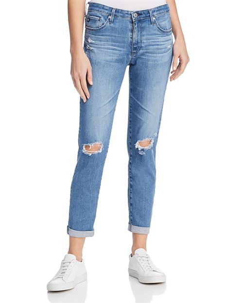AG - Prima Roll Up Jeans in Sea Sprite Destructed - 100% Exclusive