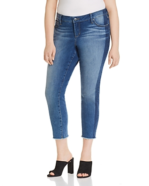 Slink Jeans Frayed Cropped Skinny Jeans in Gwen