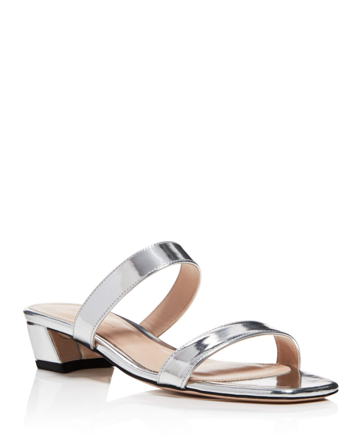 Stuart Weitzman Women's Ava Patent Leather Slide Sandals