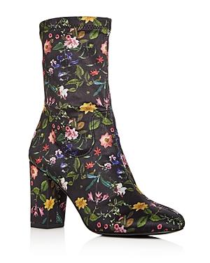 Kenneth Cole Women's Alyssa Floral Print High Block Heel Booties