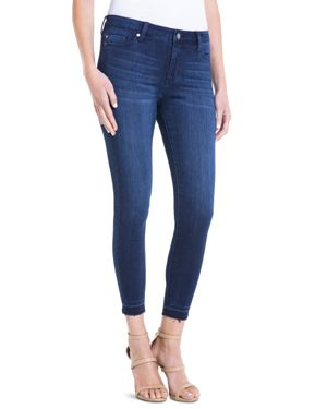 Liverpool Avery Cropped Released-Hem Jeans in Dark Blue